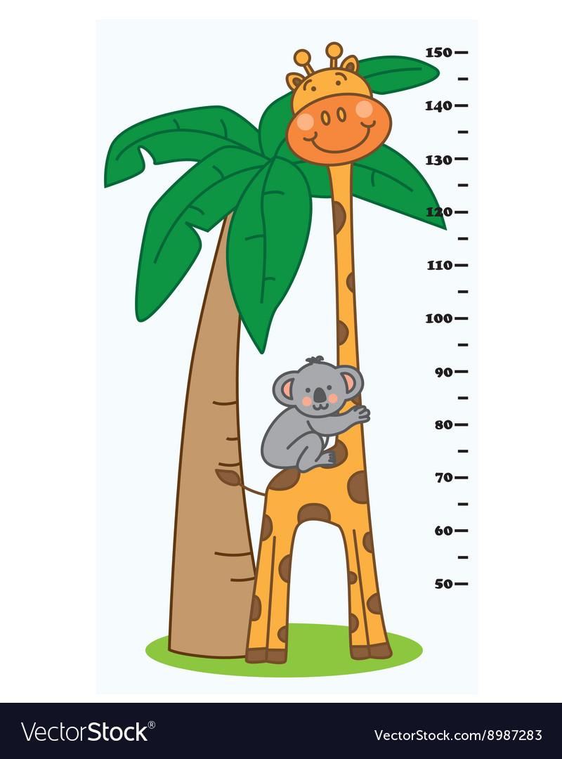 Meter wall animals vector image