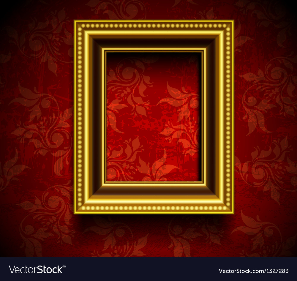 Picture frame wallpaper background Royalty Free Vector Image