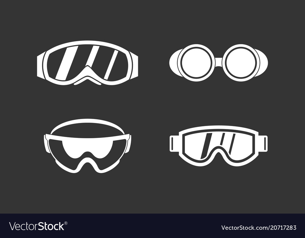 Protect glasses icon set grey