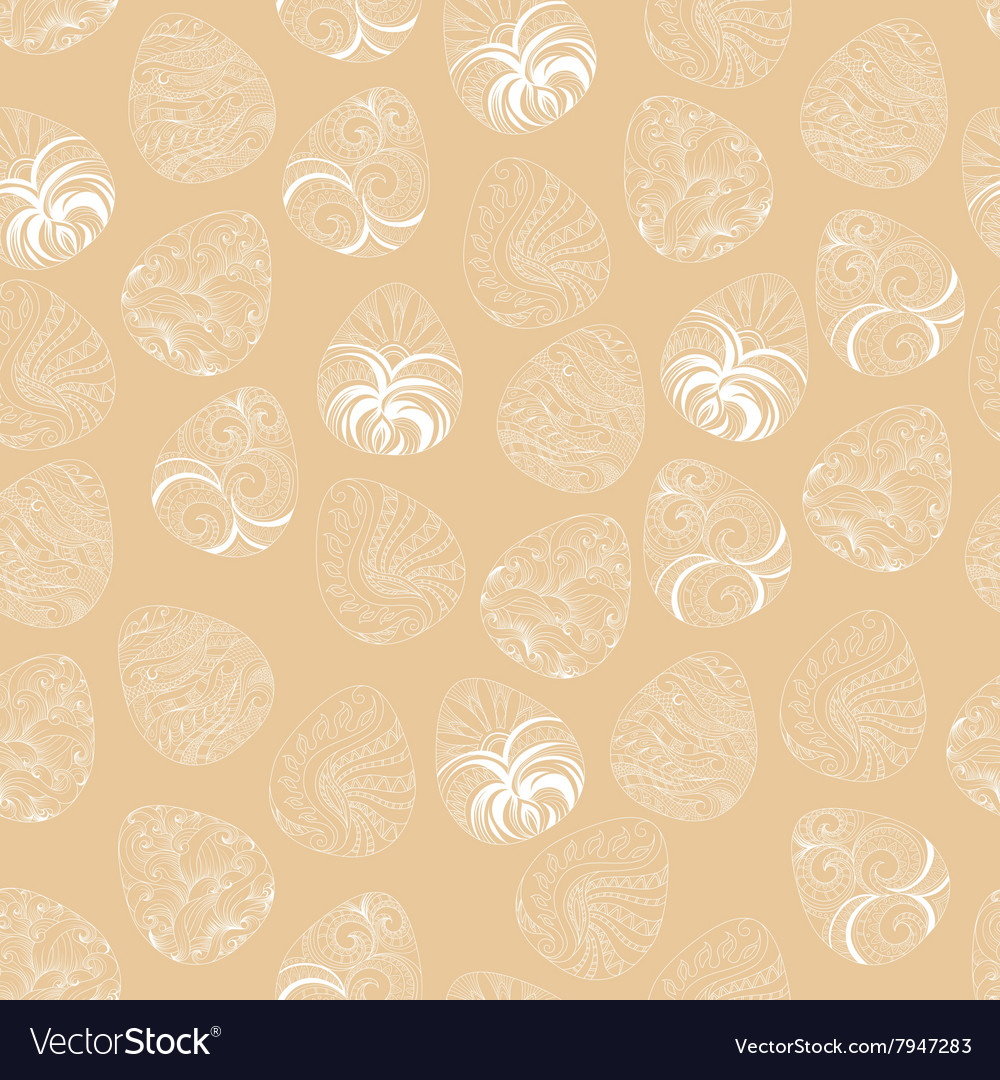 Seamless of Easter eggs with graphic pattern