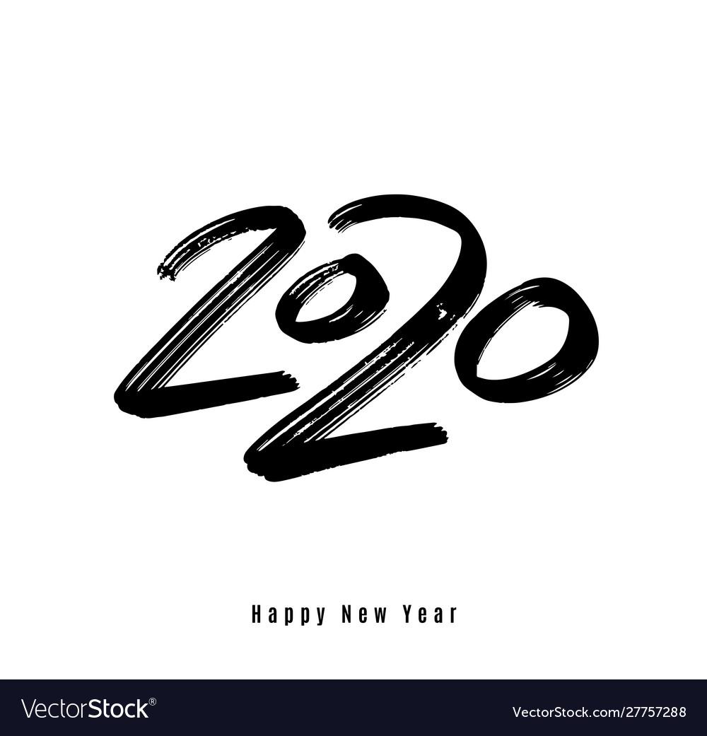 2020 happy new year background big