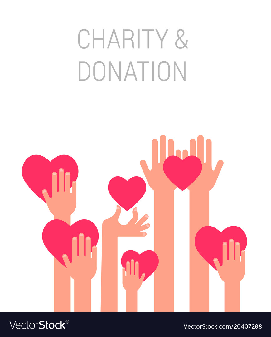 Charity giving and donation poster template