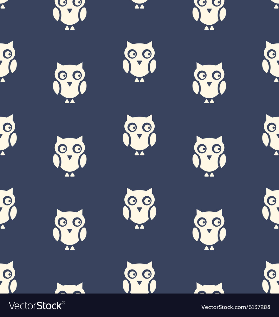 Seamless Pattern with Bird Owl for Halloween