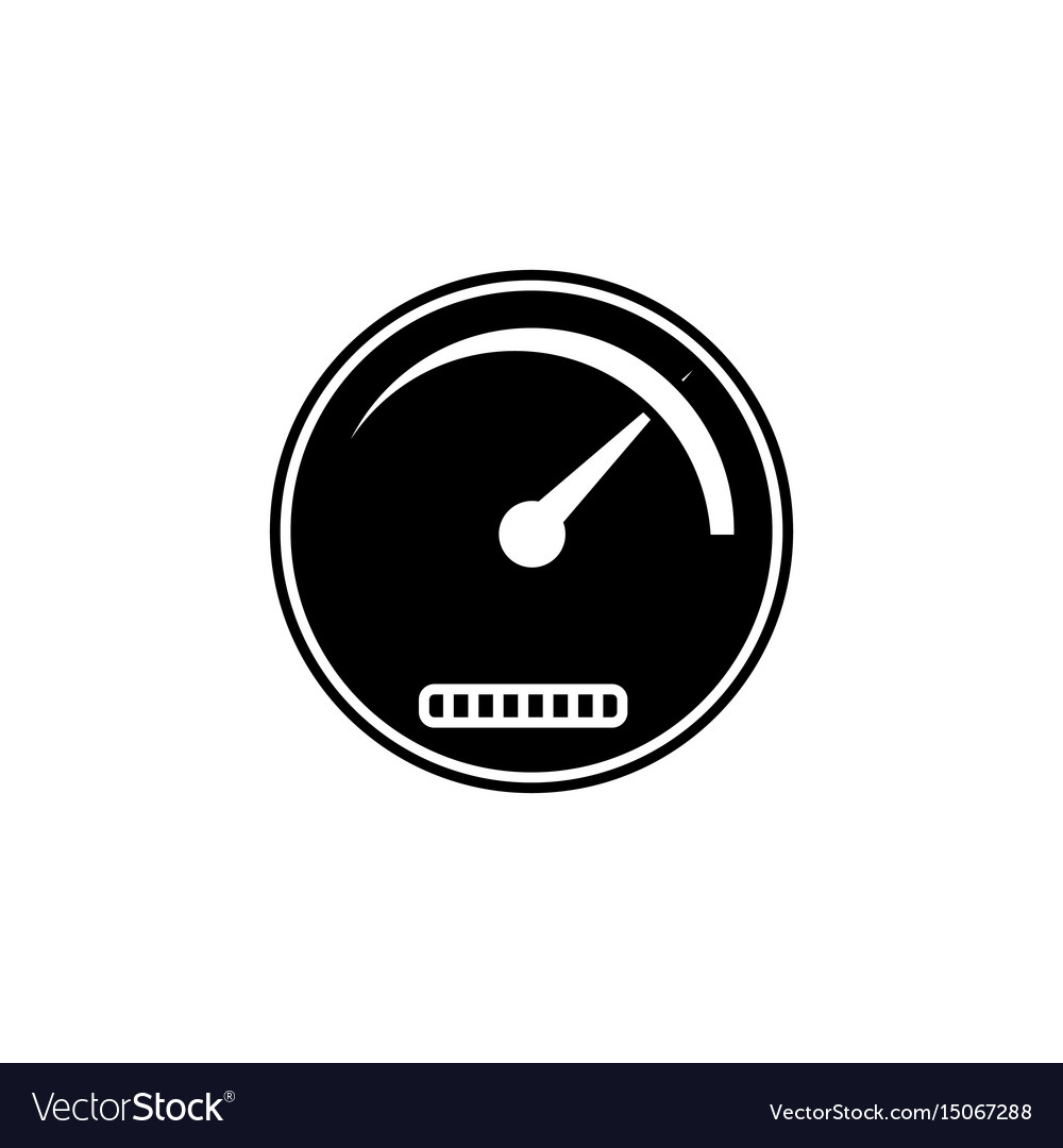 Speedometer solid icon navigation and tachometer
