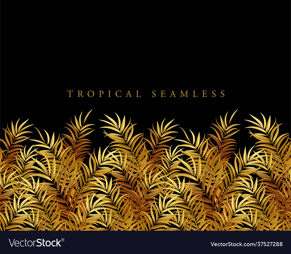 Tropical palm leaves jungle leaves seamless