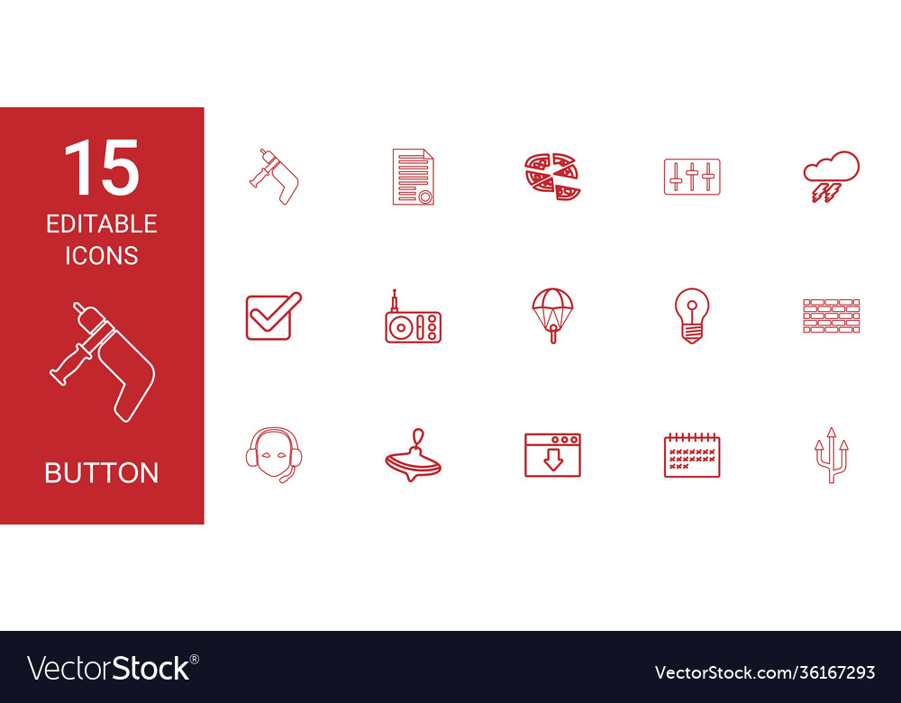 15 button icons