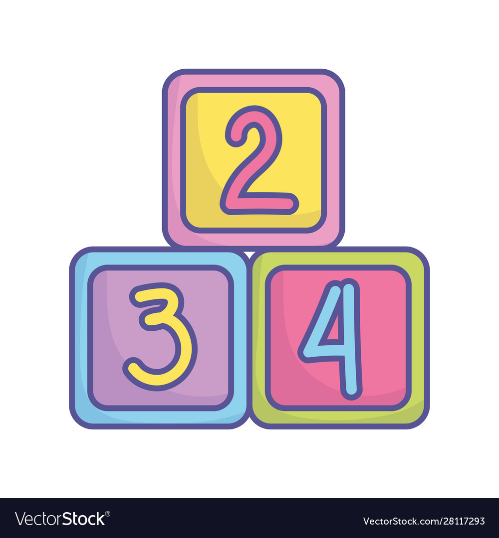 Bashower toys numbers cubes icon