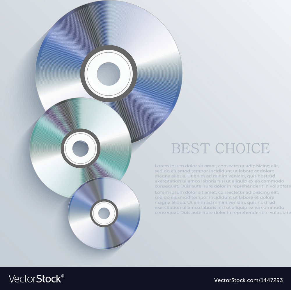 Cd background Eps10 vector image