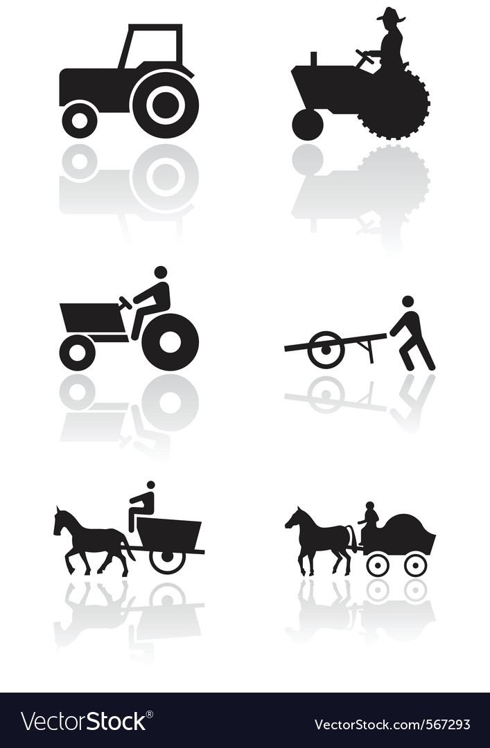 Farmer Symbol Set Royalty Free Vector Image Vectorstock