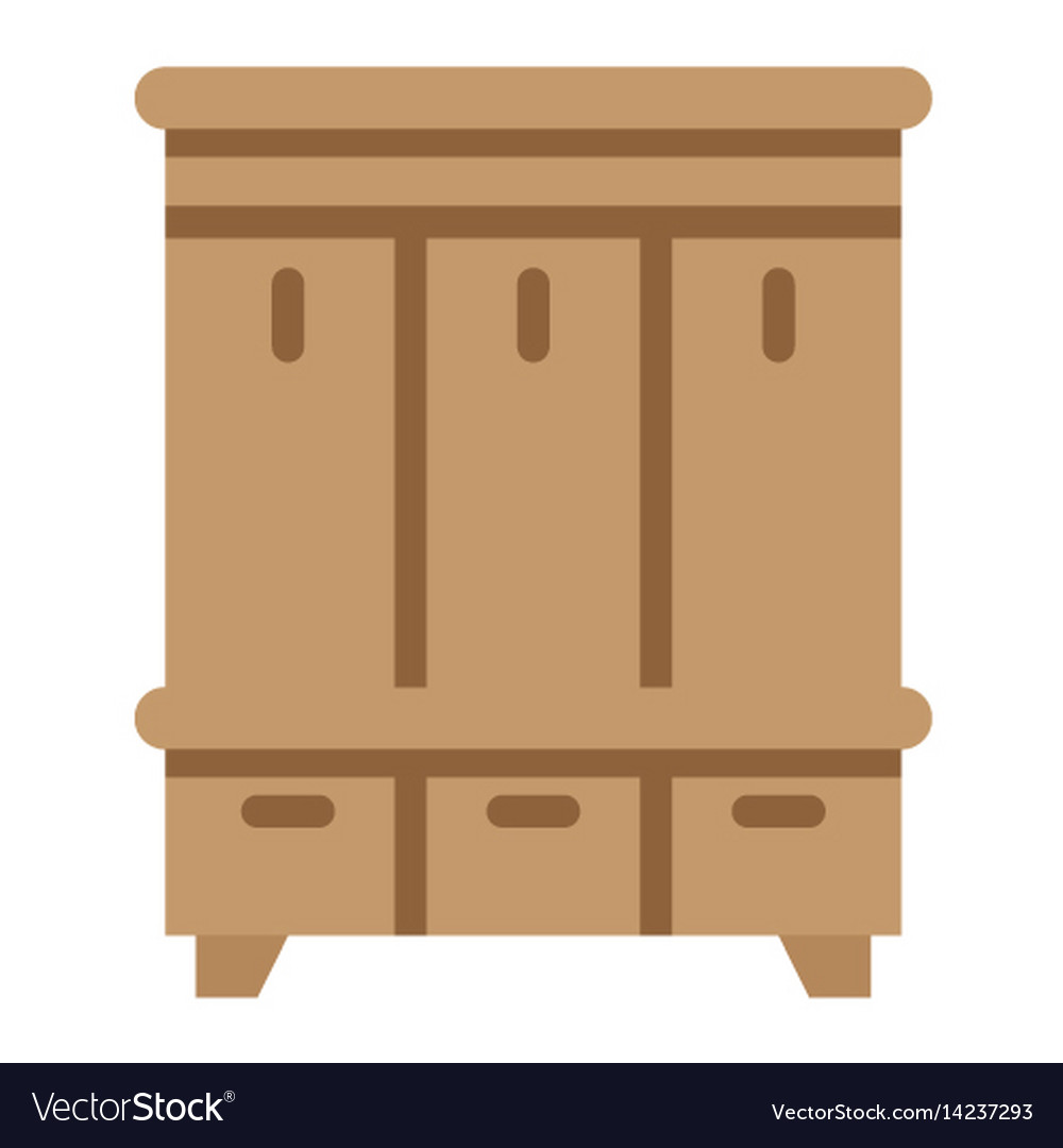 Hallway closet flat icon furniture and interior vector image