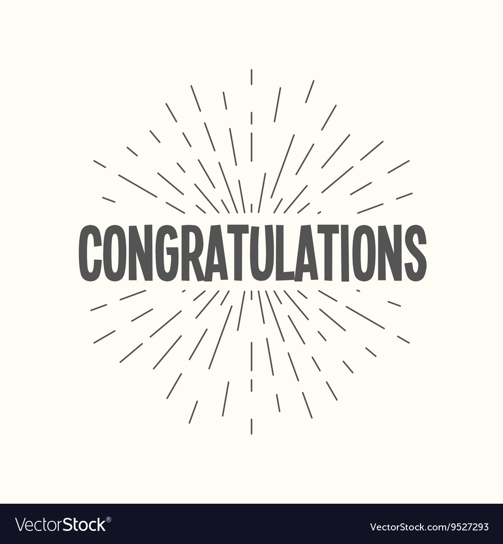 Hand drawn sunburst - congratulations