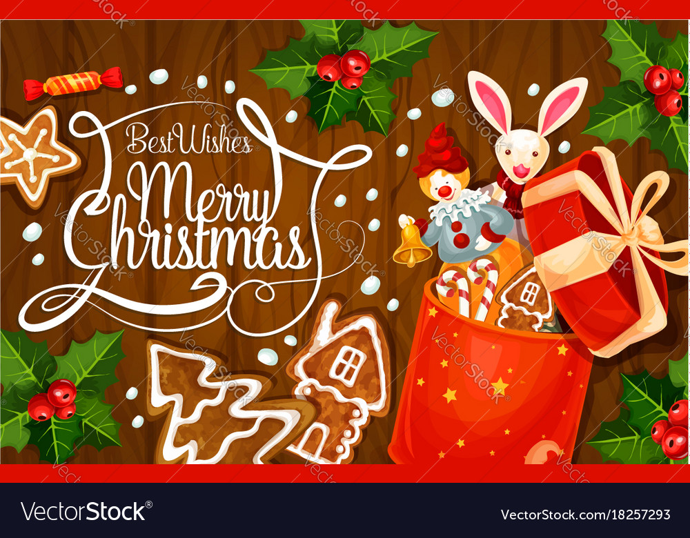 Merry christmas holiday greeting card royalty free vector merry christmas holiday greeting card vector image m4hsunfo