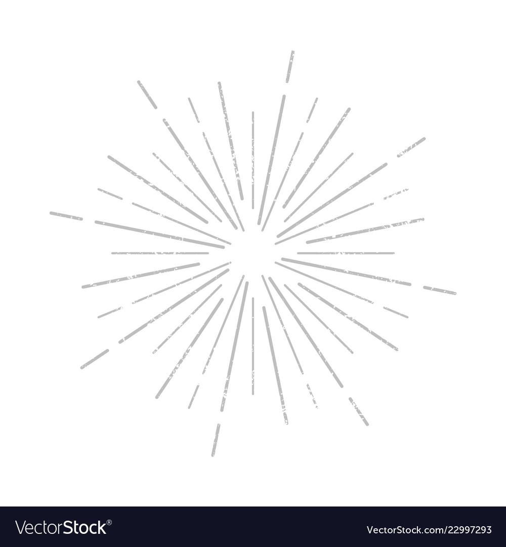 Sunburst rays icon sign grunge effect