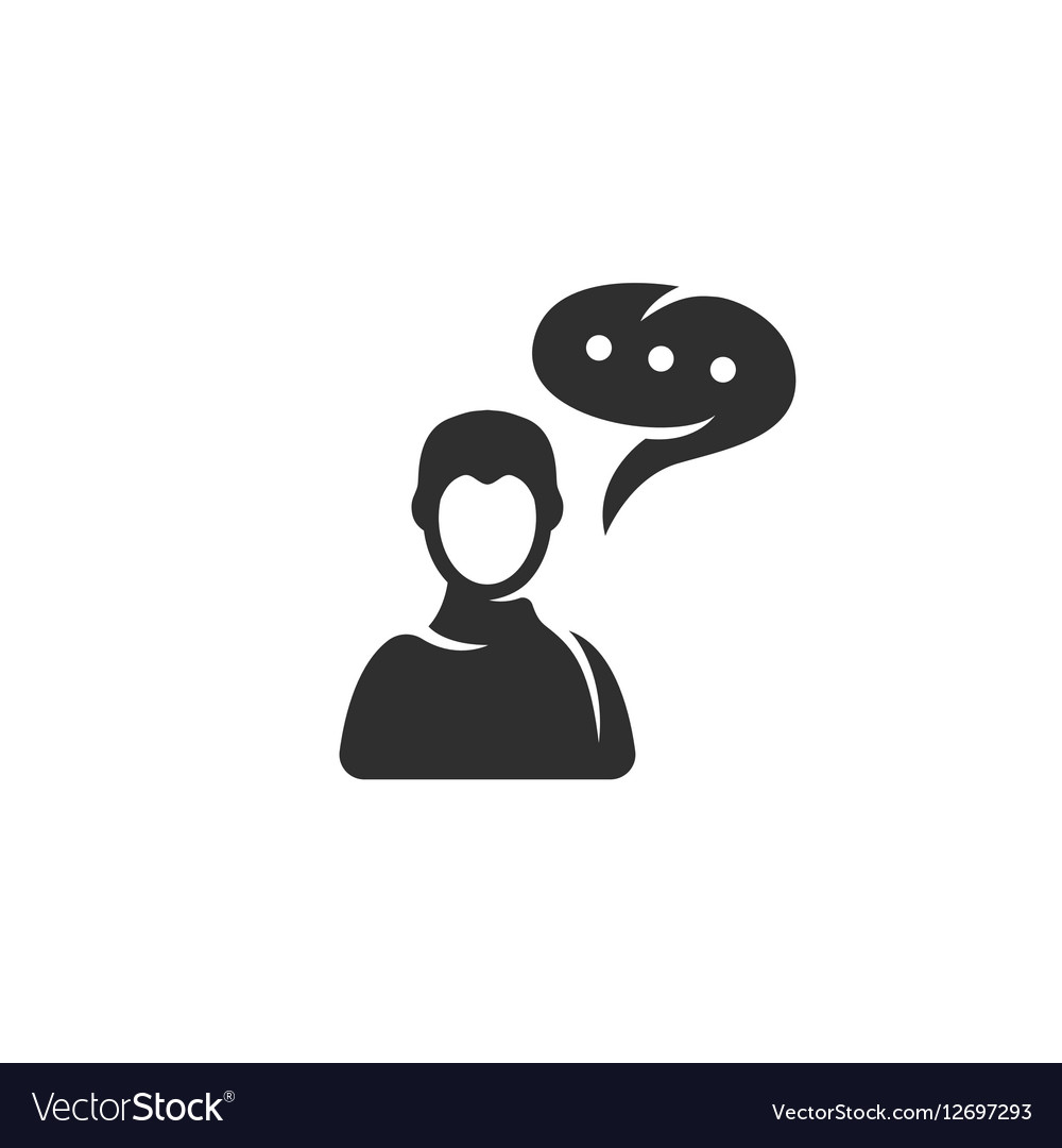 Talk icon isolated on a white background