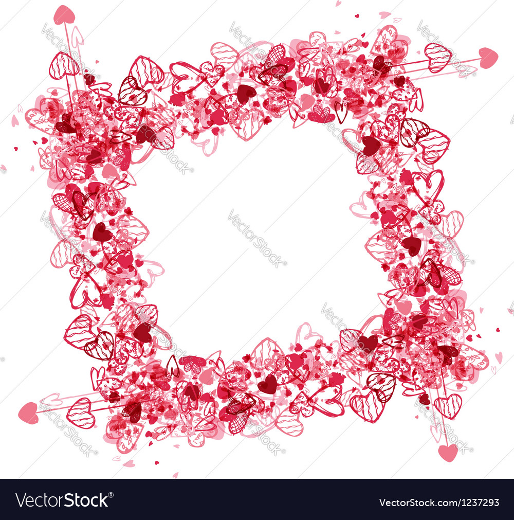 Valentine frame design place for your photo or
