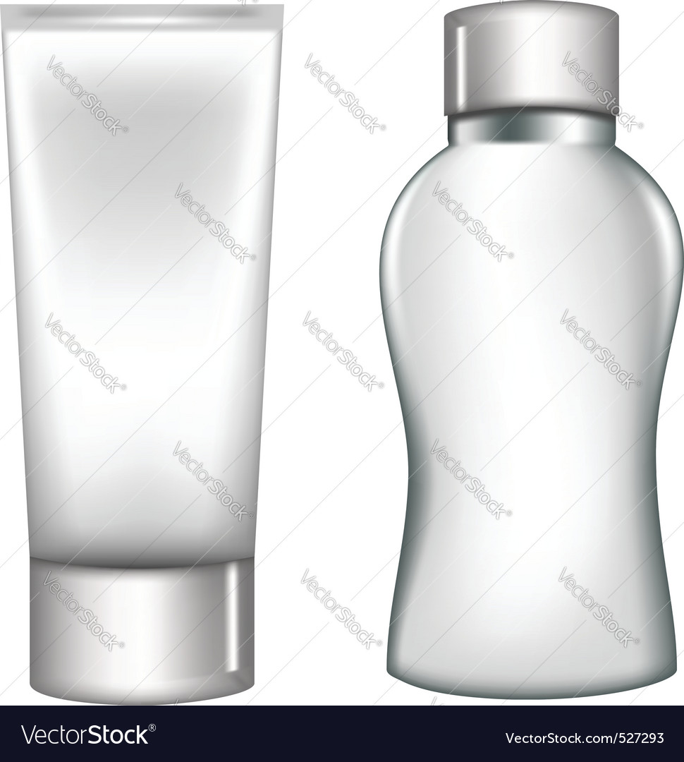 White plastic containers vector image