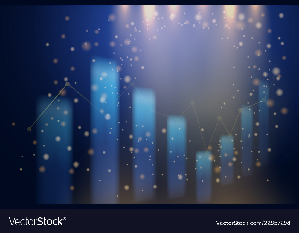 Abstract business candle stick graph background