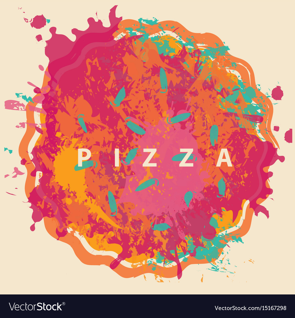 Banner with abstract image of pizza
