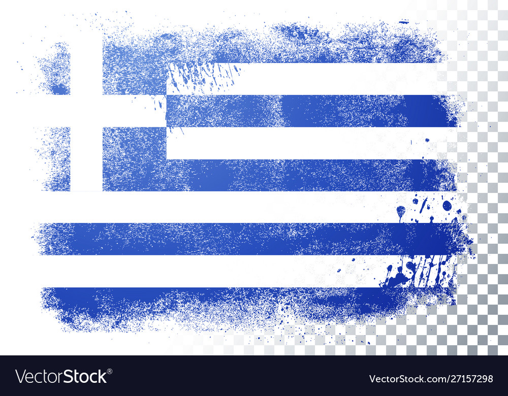 Distortion grunge flag greece