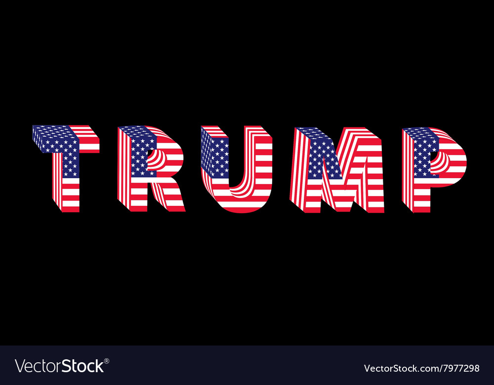 Letters from flag Trump Donald election table