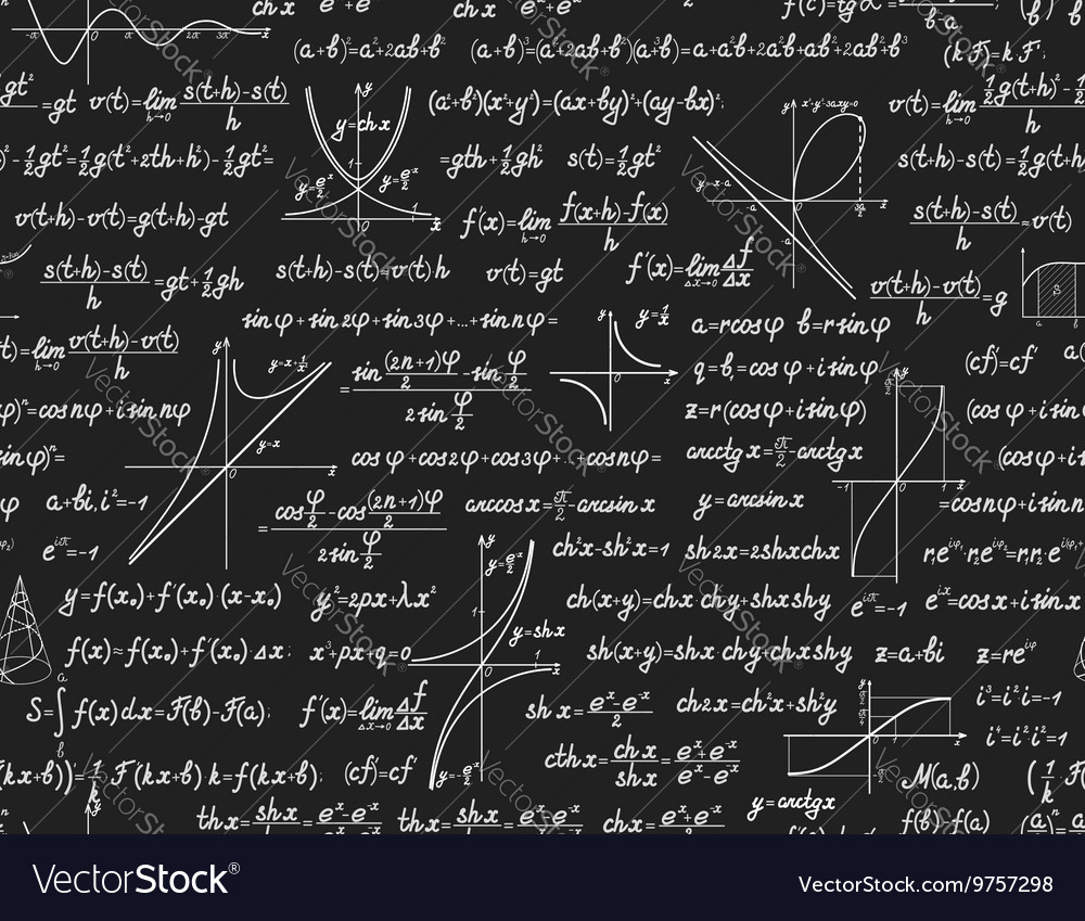 Math seamless pattern with calculations vector image