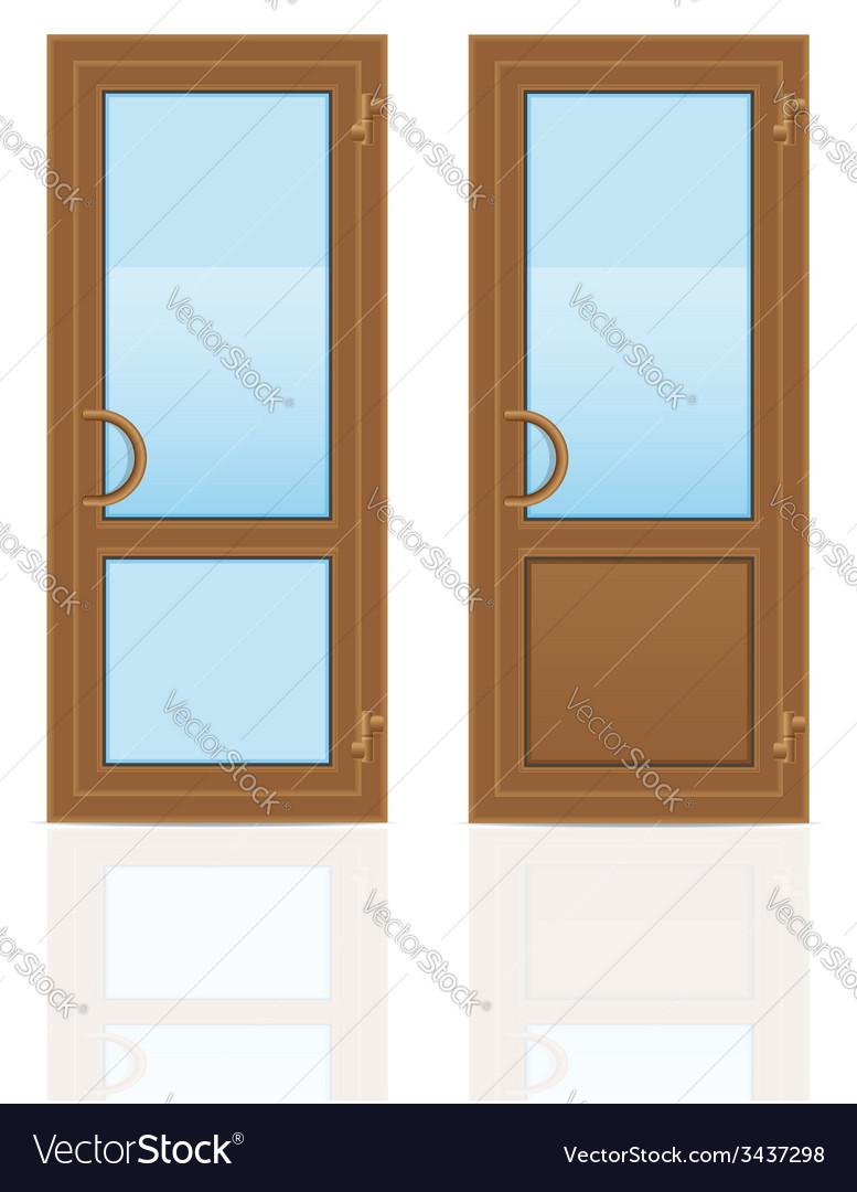 Plastic doors 05 vector image & Plastic doors 05 Royalty Free Vector Image - VectorStock
