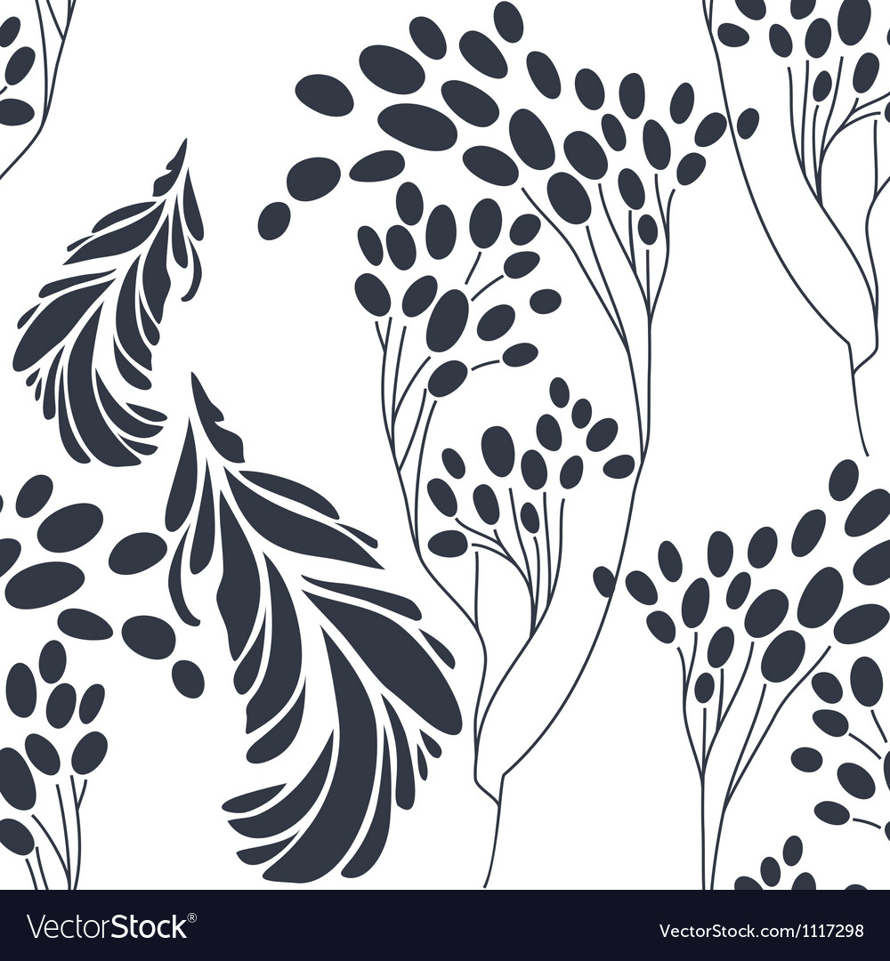Vintage floral seamless pattern with hand drawn vector image