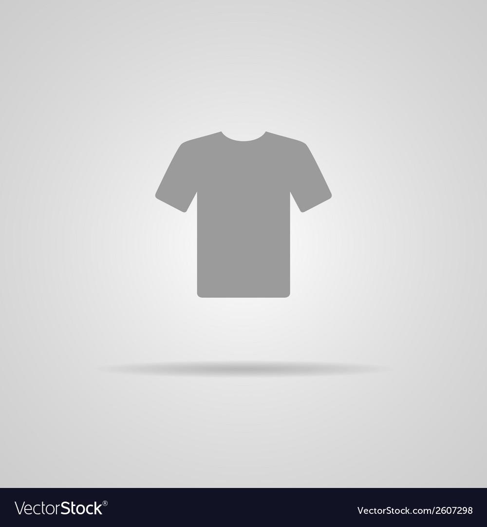 White Blank Tshirt Icon Symbol