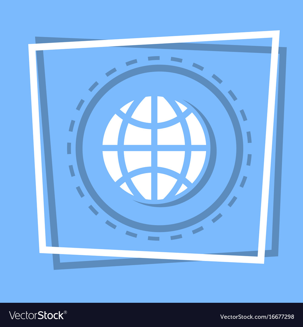 World globe icon earth planet concept
