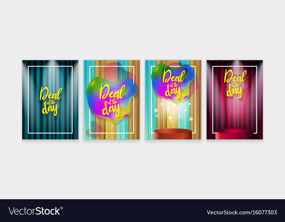Deal of the day poster trendy set for your design vector image