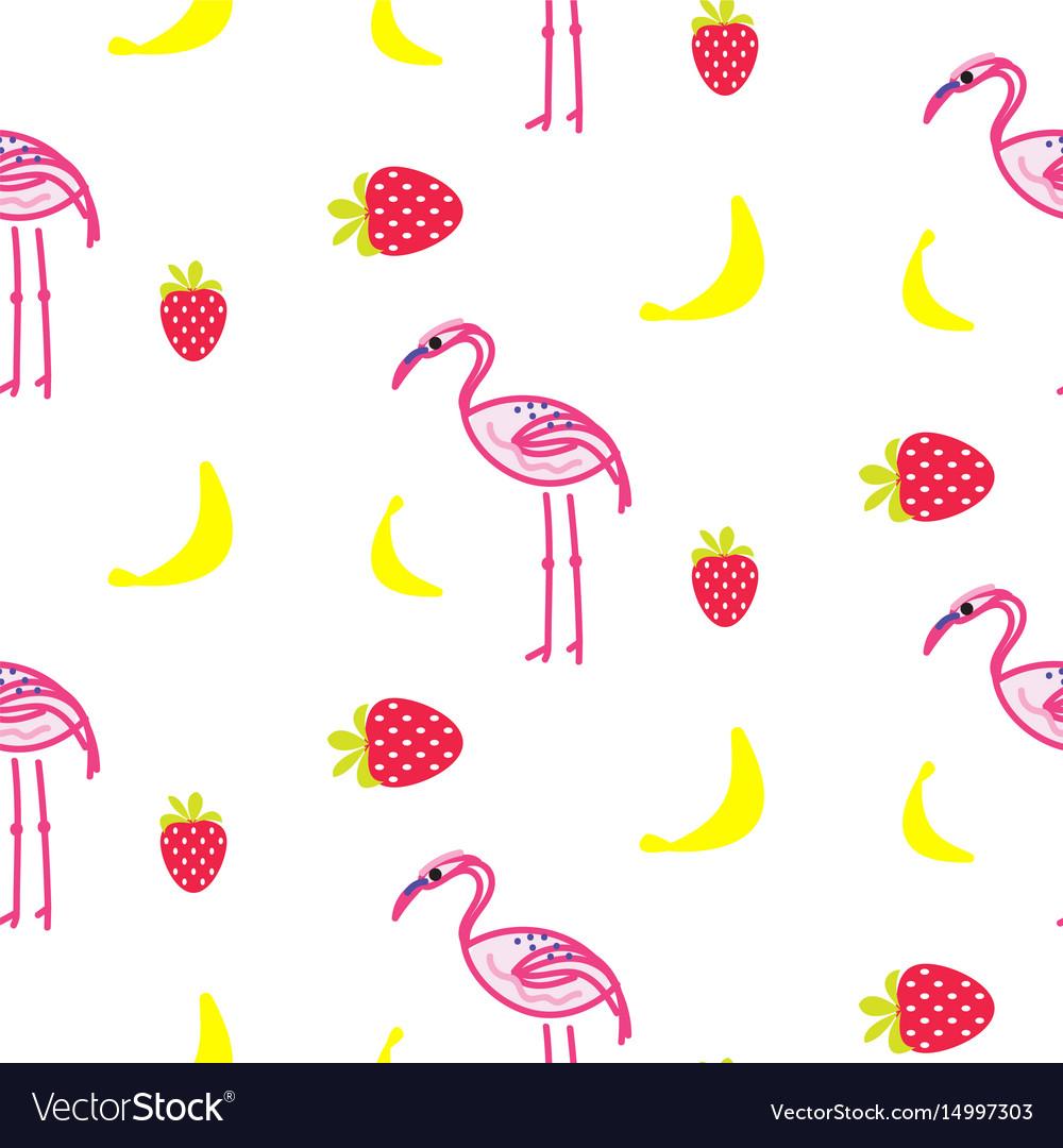Flamingo summer seamless texture vector image