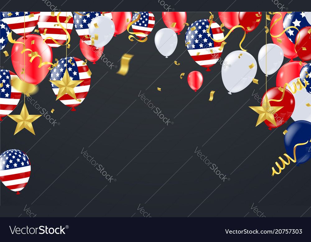 Fourth of july united states independence day vector image