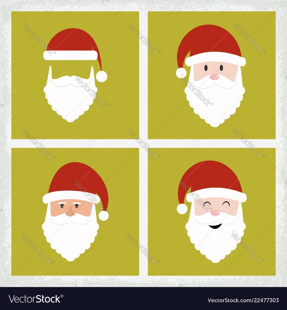 Santa clause icon set