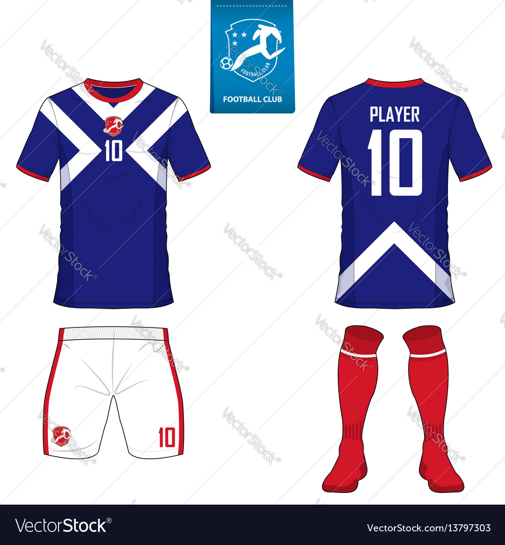2b17a2ebb7e Set of soccer kit or football jersey template Vector Image