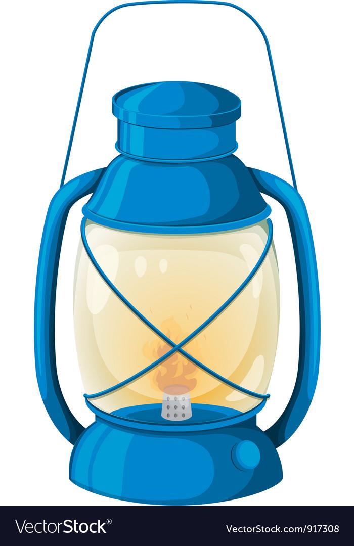 Camping lamp vector image