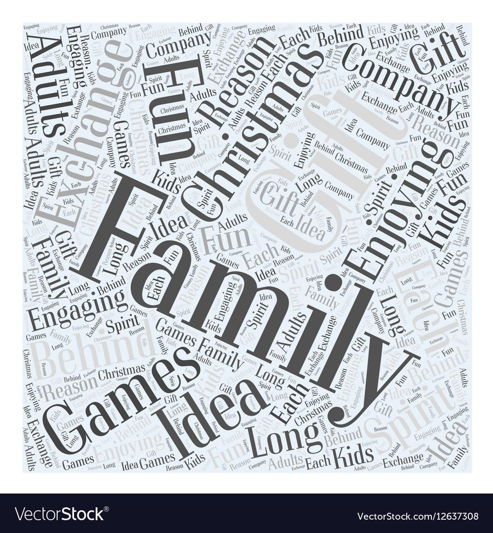 Christmas Gift Exchange Games.Family Christmas Gift Exchange Games Word Cloud