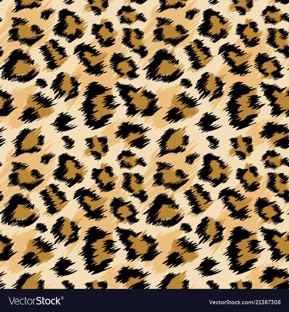 Fashionable leopard seamless pattern leopard skin