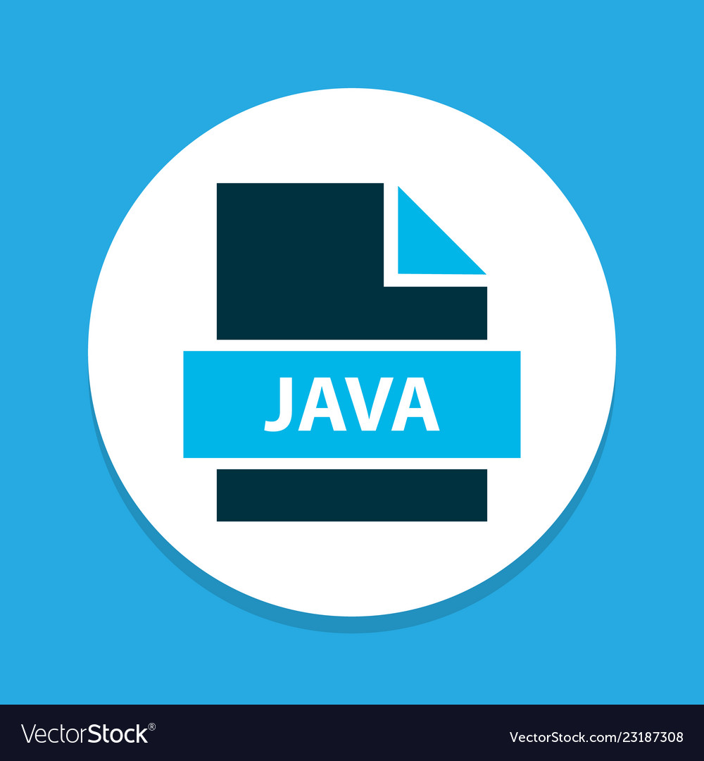 File java icon colored symbol premium quality