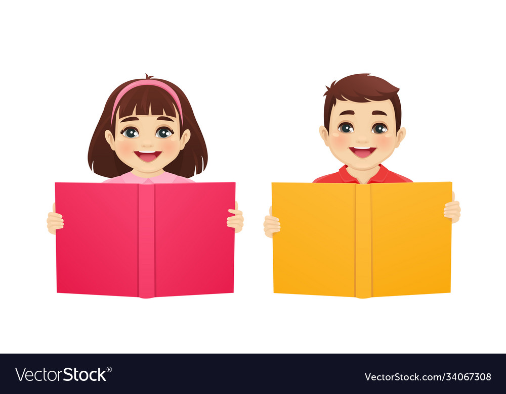 Kids with book