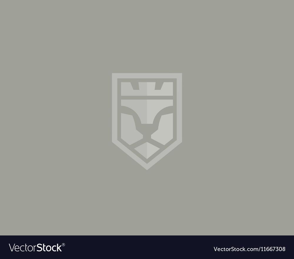 Lion face logotype Luxury logo design