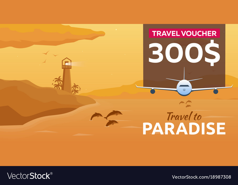 Travel voucher sea travel summer time sea