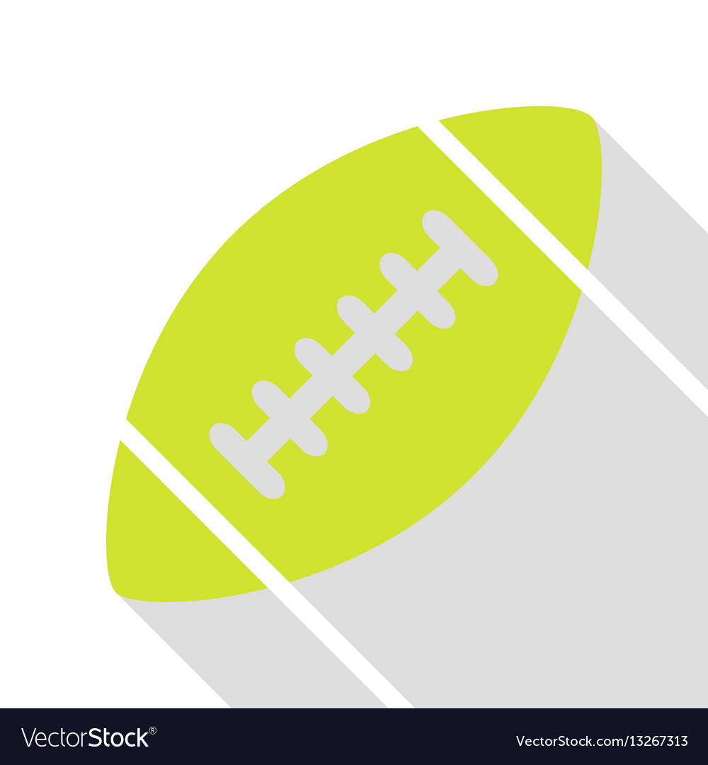 American simple football ball pear icon with flat vector image