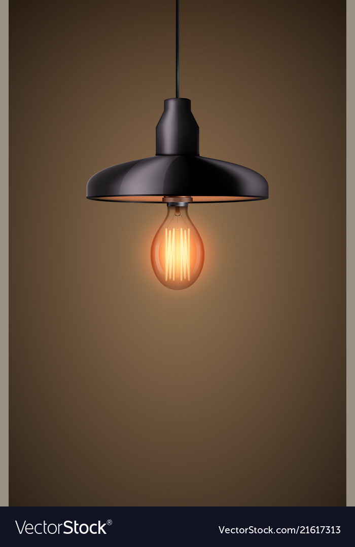 Decorative Edison Light Bulb With Chandelier Vector Image
