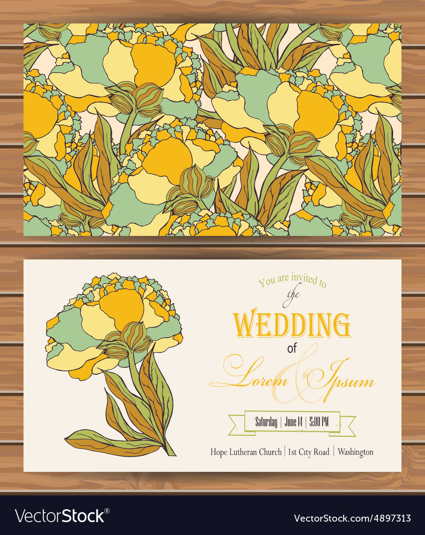 Floral card templates