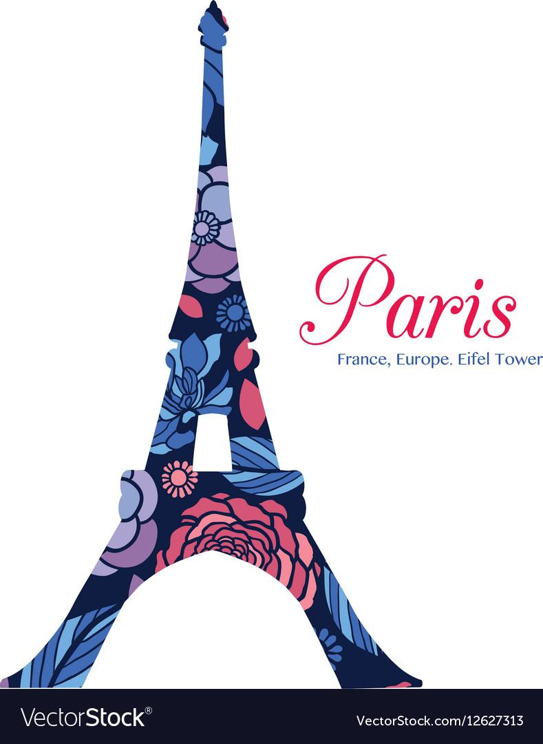 Floral Eifel Tower Paris On St Valentines