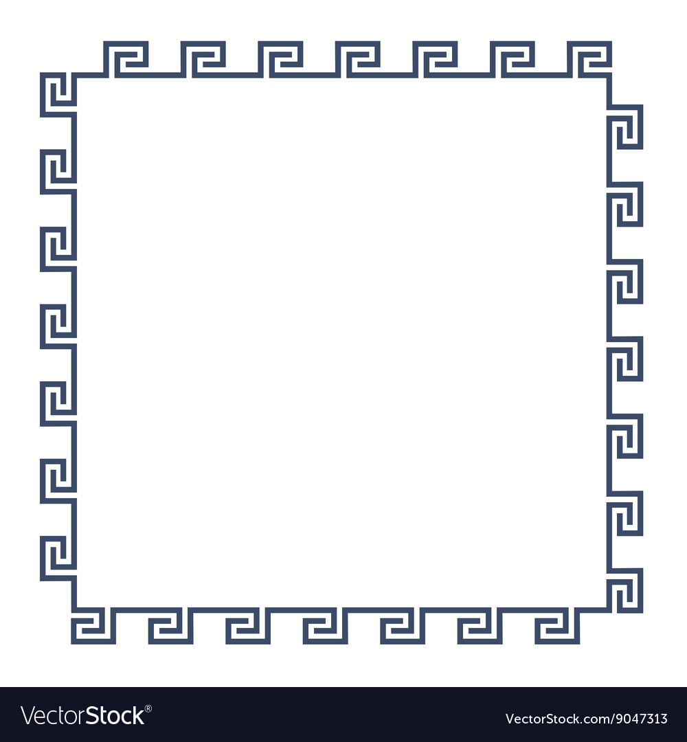 Greek decorative frame for design minimal style