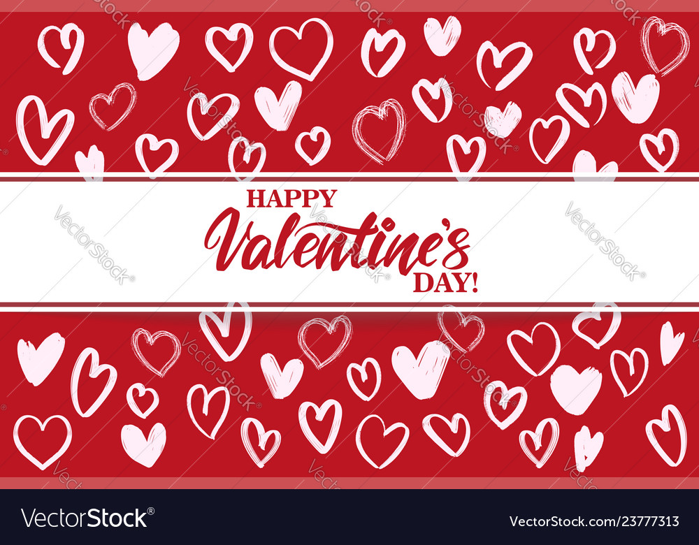 Happy valentine s day text on the background of