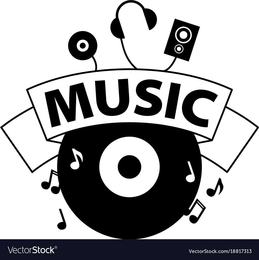 logo music royalty free vector image vectorstock rh vectorstock com music vector images music vector art