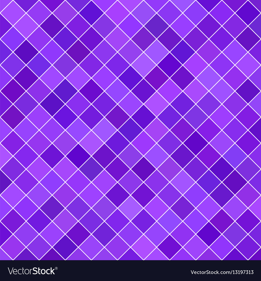 Purple square pattern background vector image