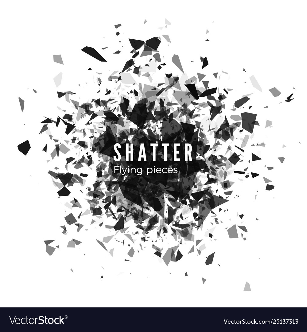 Shatter and destruction effect abstract cloud of
